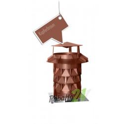 Schornsteinaufsatz mit Grundplatte Kupferbraun