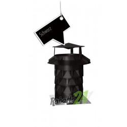 Schornsteinaufsatz mit Grundplatte Schwarz