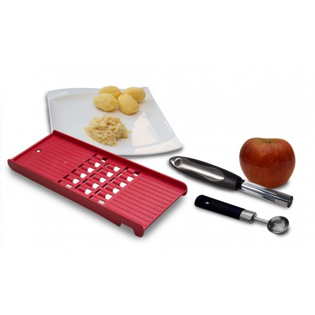 Kugelausstecher Kartoffel Rösti Reibe Gemüse Apfelstecher Apfel Ausstecher Rot