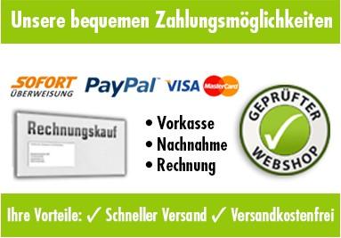 Zahlungsmöglichkeit - Rechnung, Paypal, Kreditkarte...